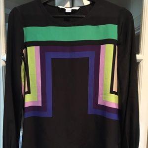 Diane von Furstenberg 100% silk blouse.